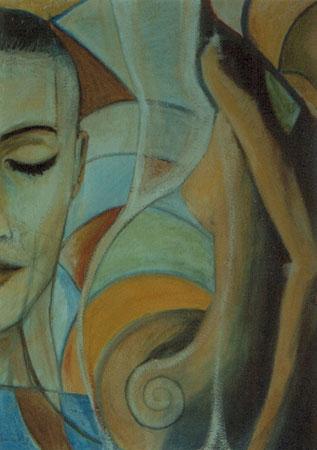 Spiral woman - olio su tela 70x50 (1998)