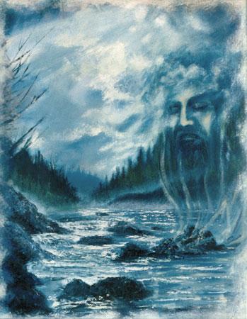 Il signore delle acque - epossidico-acrilico-olio su tela (1999)