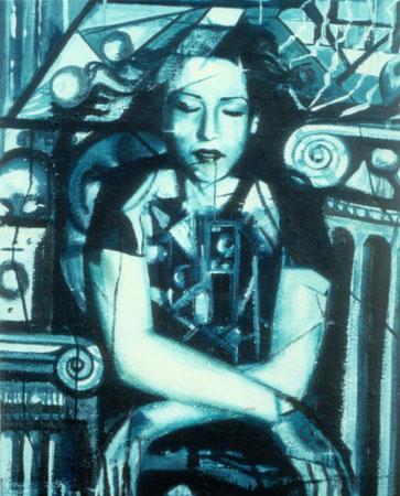 Essenza dell'essere - epossidico olio su tela 60x50 (1998)