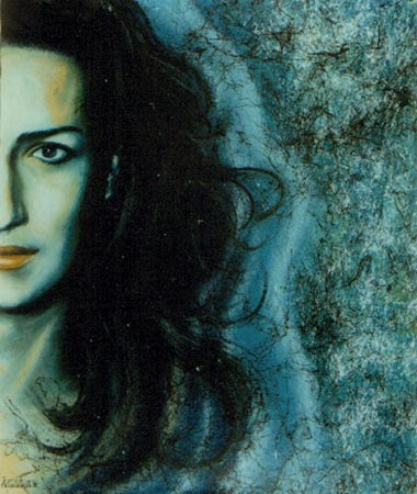 Ritratto olio acrilico su tela 60x50 (1998)