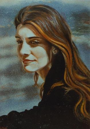 Ritratto olio acrilico su tela 70x50 (1999)