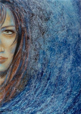 Ritratto olio su murale acrilico 70x50 (1999)